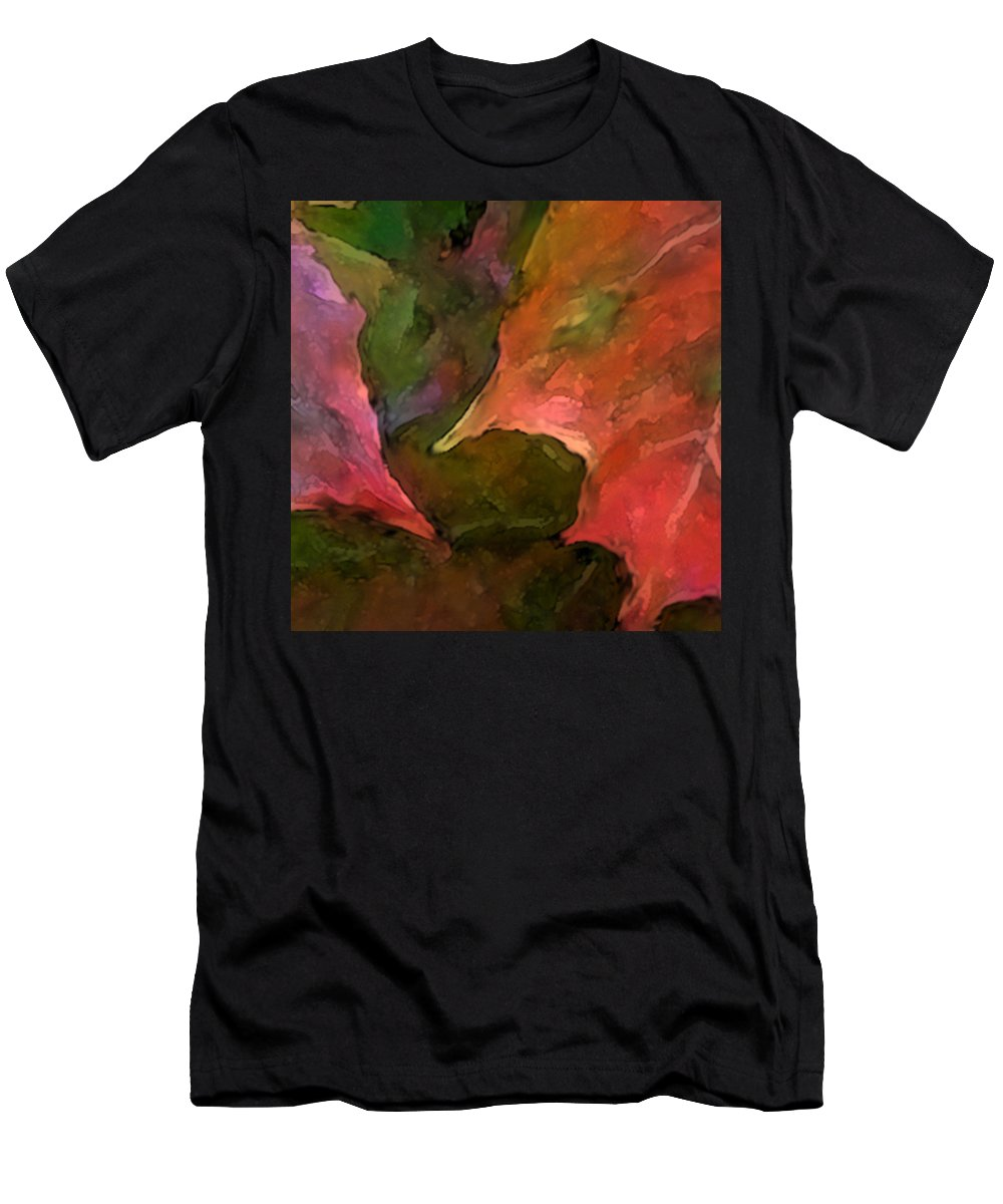 Autumn Men's T-Shirt (Athletic Fit) featuring the mixed media Autumn Moods 7 by Carol Cavalaris