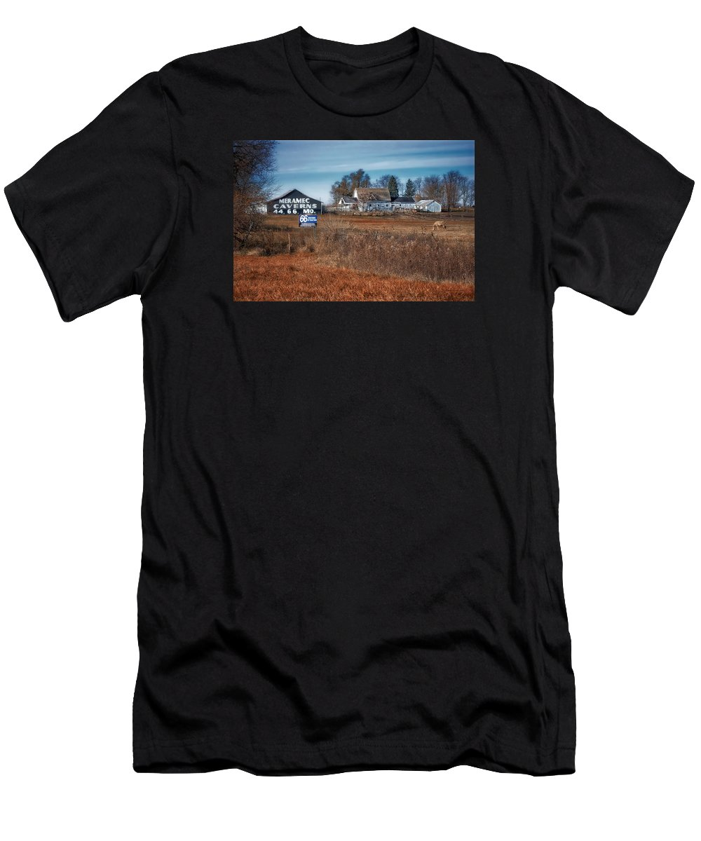 Decaying Farm Men's T-Shirt (Athletic Fit) featuring the photograph Autumn On A Rural Farm by Thomas Woolworth
