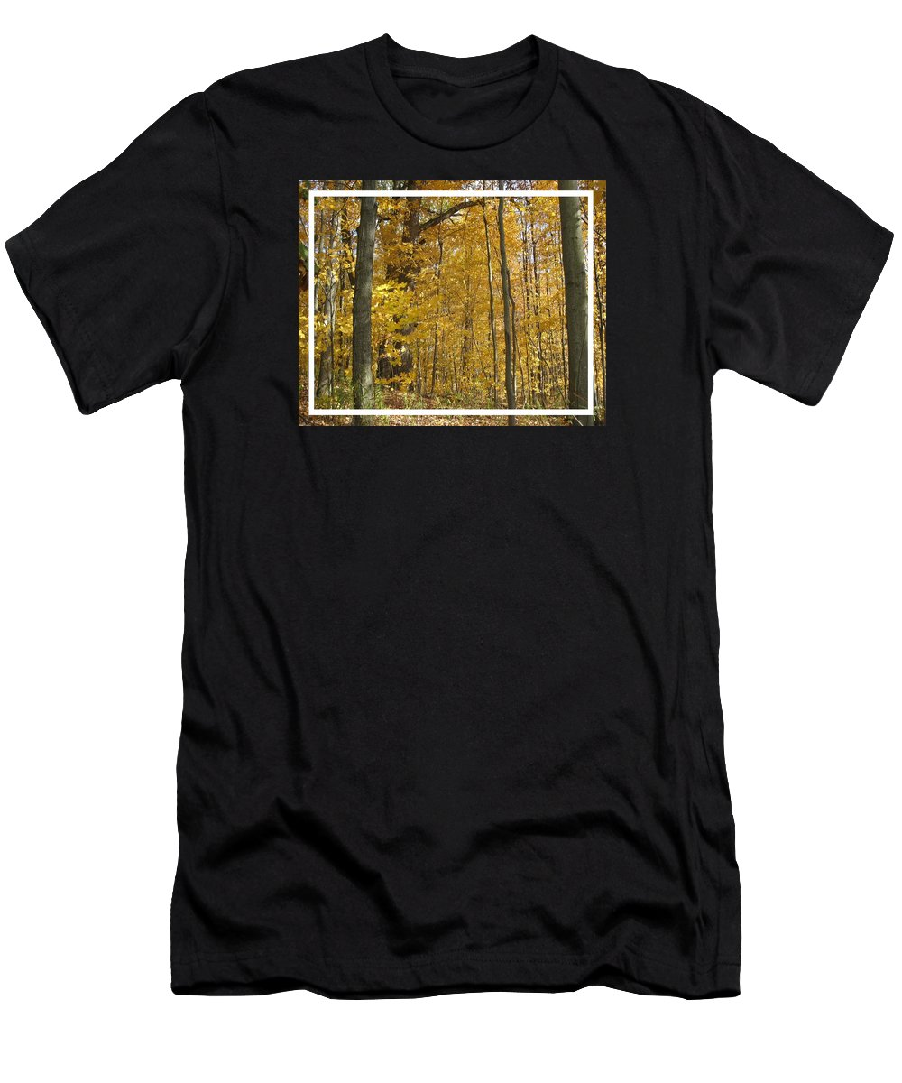 Autumn Men's T-Shirt (Athletic Fit) featuring the photograph Autumn Out My Window by Carolyn Jacob