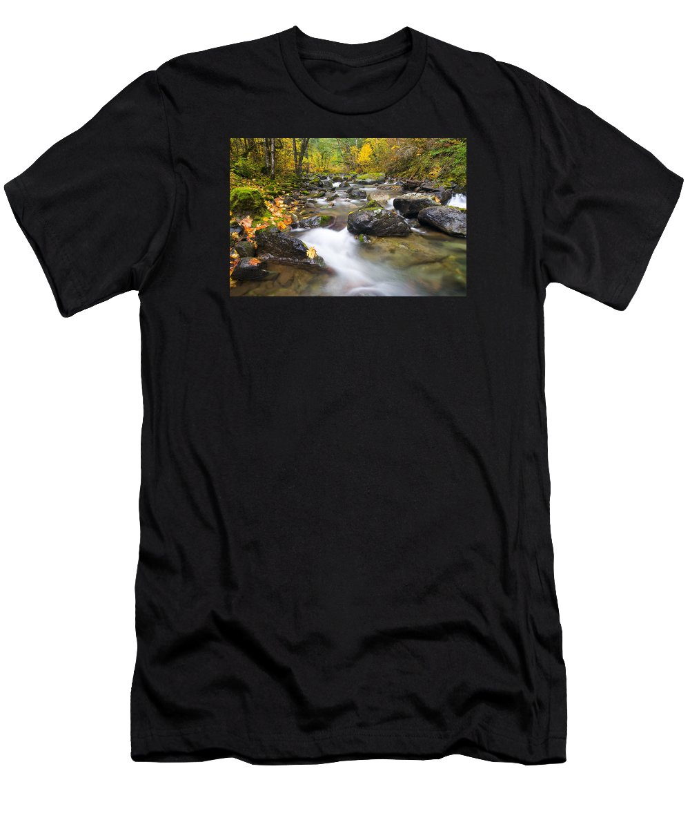 Fall Men's T-Shirt (Athletic Fit) featuring the photograph Autumn Passing by Mike Dawson