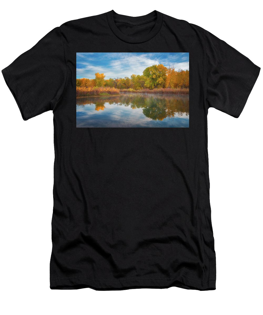 Colorado Men's T-Shirt (Athletic Fit) featuring the photograph Autumn Pond by Darren White