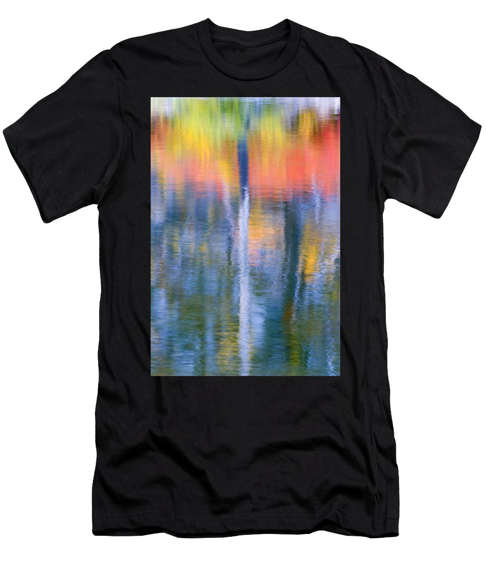 Reflection Men's T-Shirt (Athletic Fit) featuring the photograph Autumn Resurrection by Mike Dawson