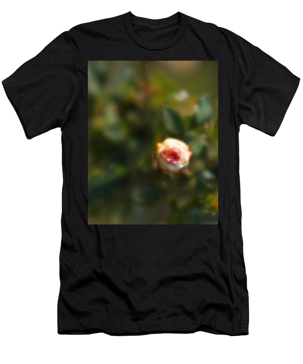 Blossom Men's T-Shirt (Athletic Fit) featuring the photograph Autumn Rosebud by Igor Malinovskii