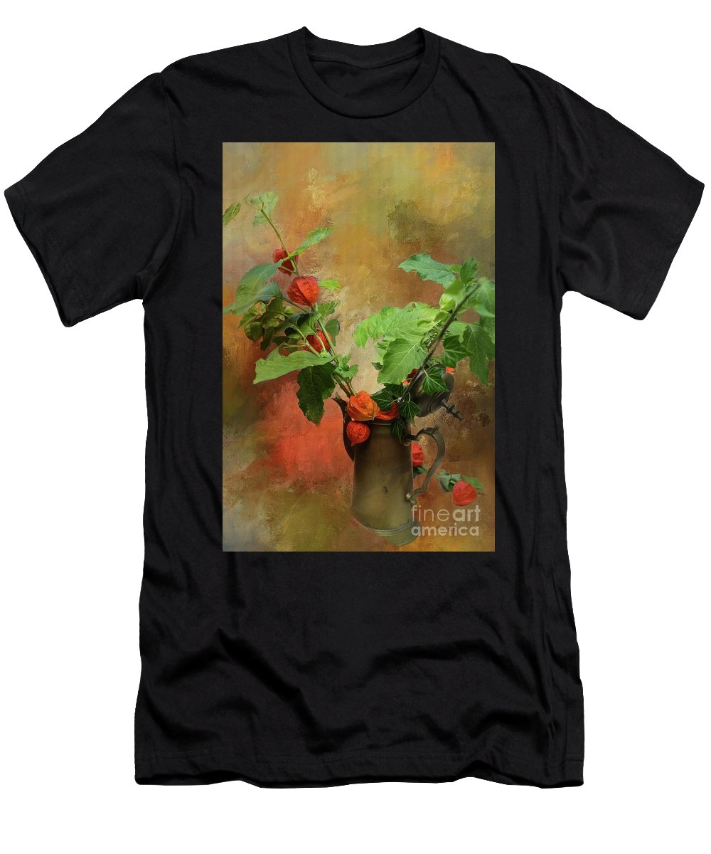 Chinese Lantern Men's T-Shirt (Athletic Fit) featuring the photograph Autumn Still Life by Eva Lechner