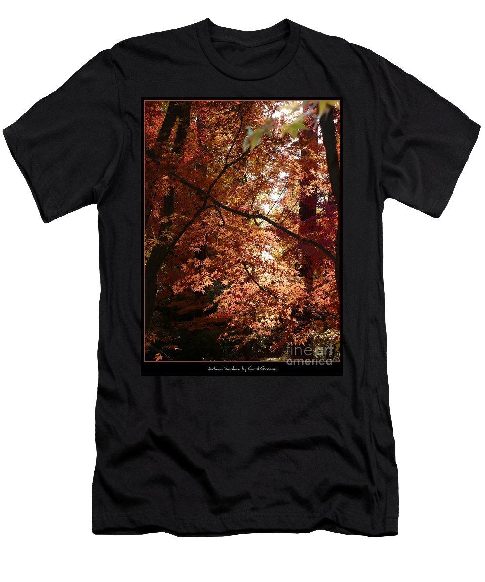 Spokane Men's T-Shirt (Athletic Fit) featuring the photograph Autumn Sunshine Poster by Carol Groenen