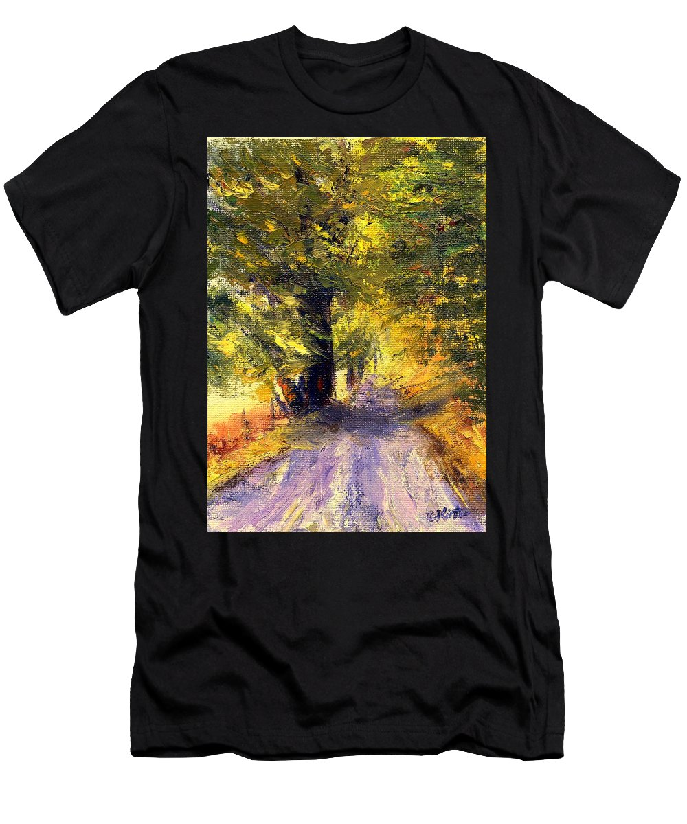 Autumn Men's T-Shirt (Athletic Fit) featuring the painting Autumn Walk by Gail Kirtz