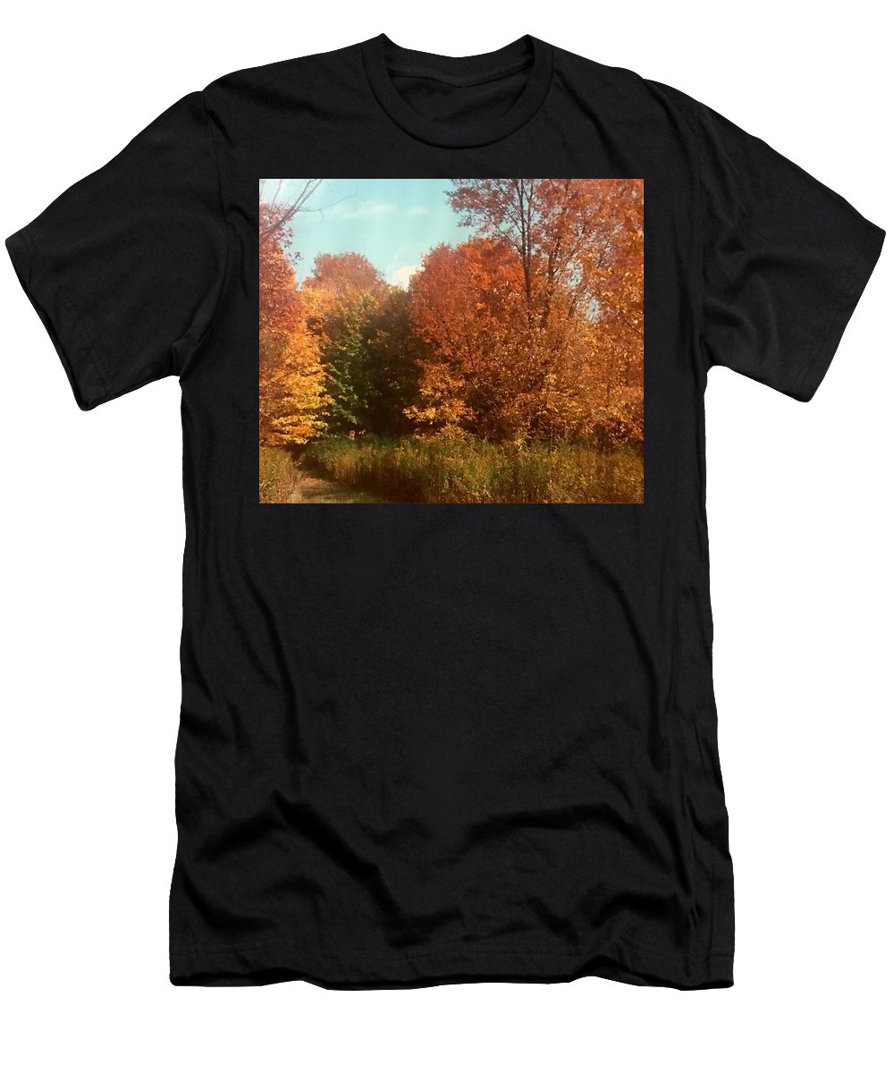 Men's T-Shirt (Athletic Fit) featuring the photograph Autumn Woods by Jo Ann Farabee