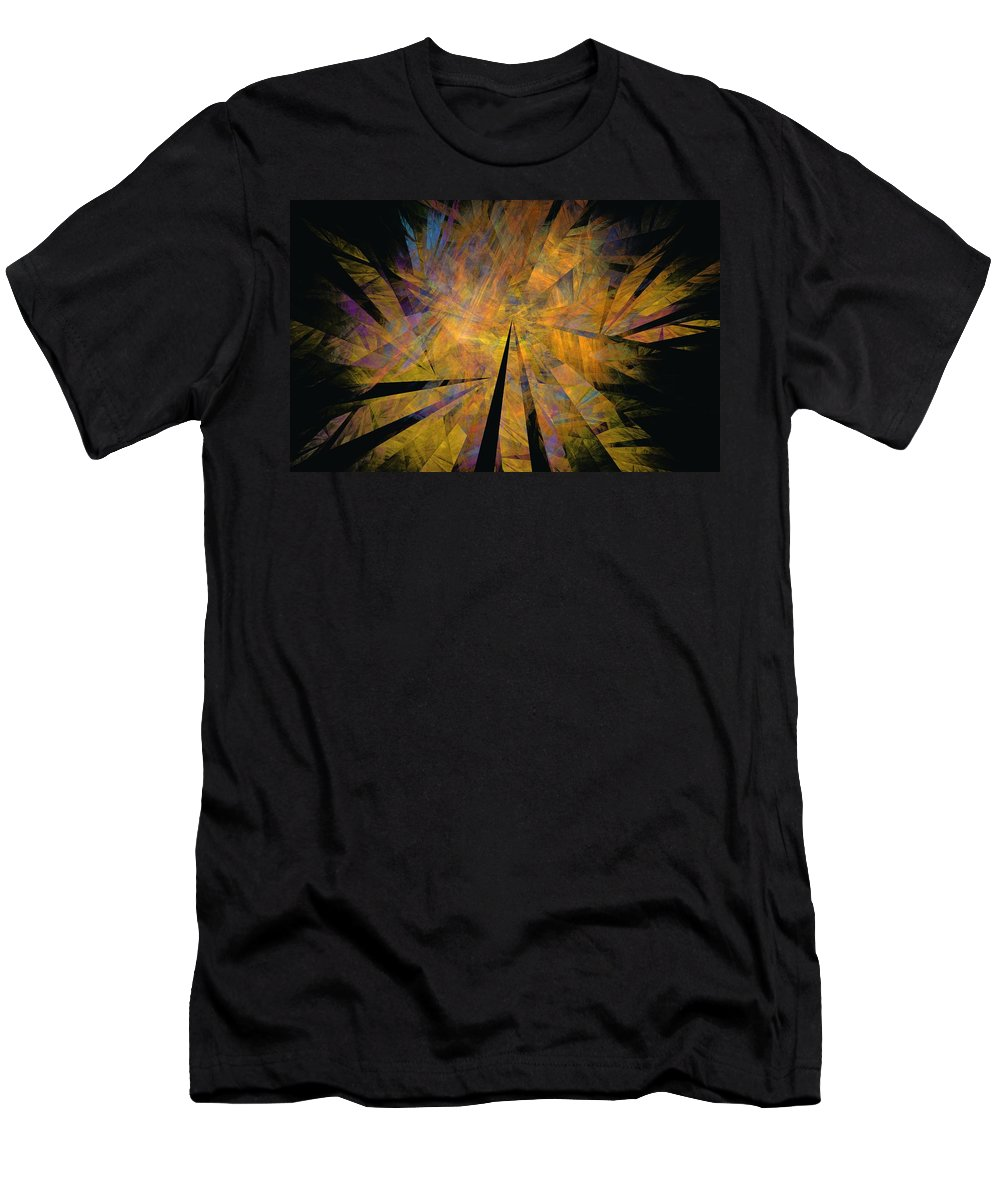 Abstract Expressionism Men's T-Shirt (Athletic Fit) featuring the digital art Autumnal by David Lane