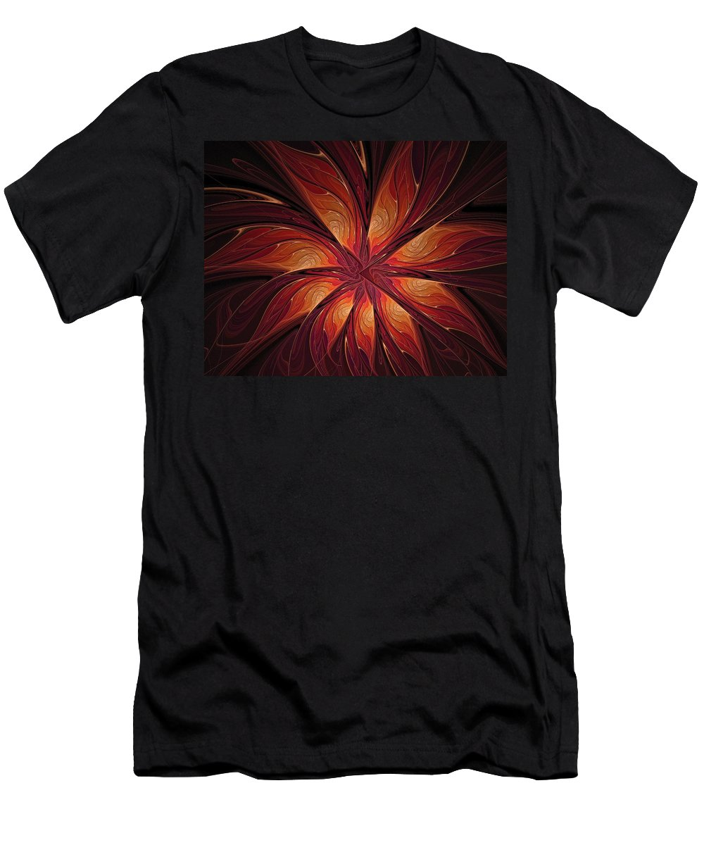 Digital Art Men's T-Shirt (Athletic Fit) featuring the digital art Autumnal Glory by Amanda Moore