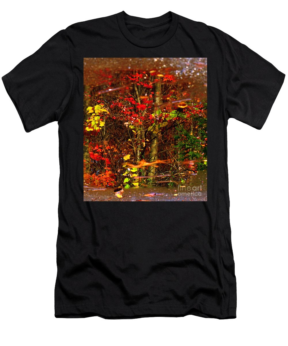 Tree Men's T-Shirt (Athletic Fit) featuring the photograph Autumns Looking Glass 2 by September Stone