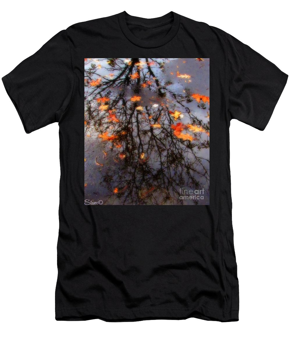 Tree Men's T-Shirt (Athletic Fit) featuring the photograph Autumns Looking Glass 3 by September Stone