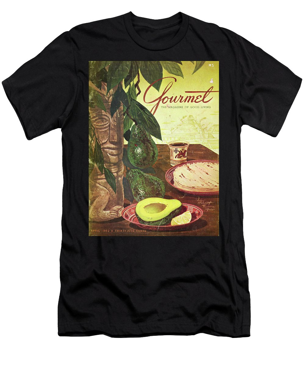 Food Men's T-Shirt (Athletic Fit) featuring the photograph Avocado And Tortillas by Henry Stahlhut