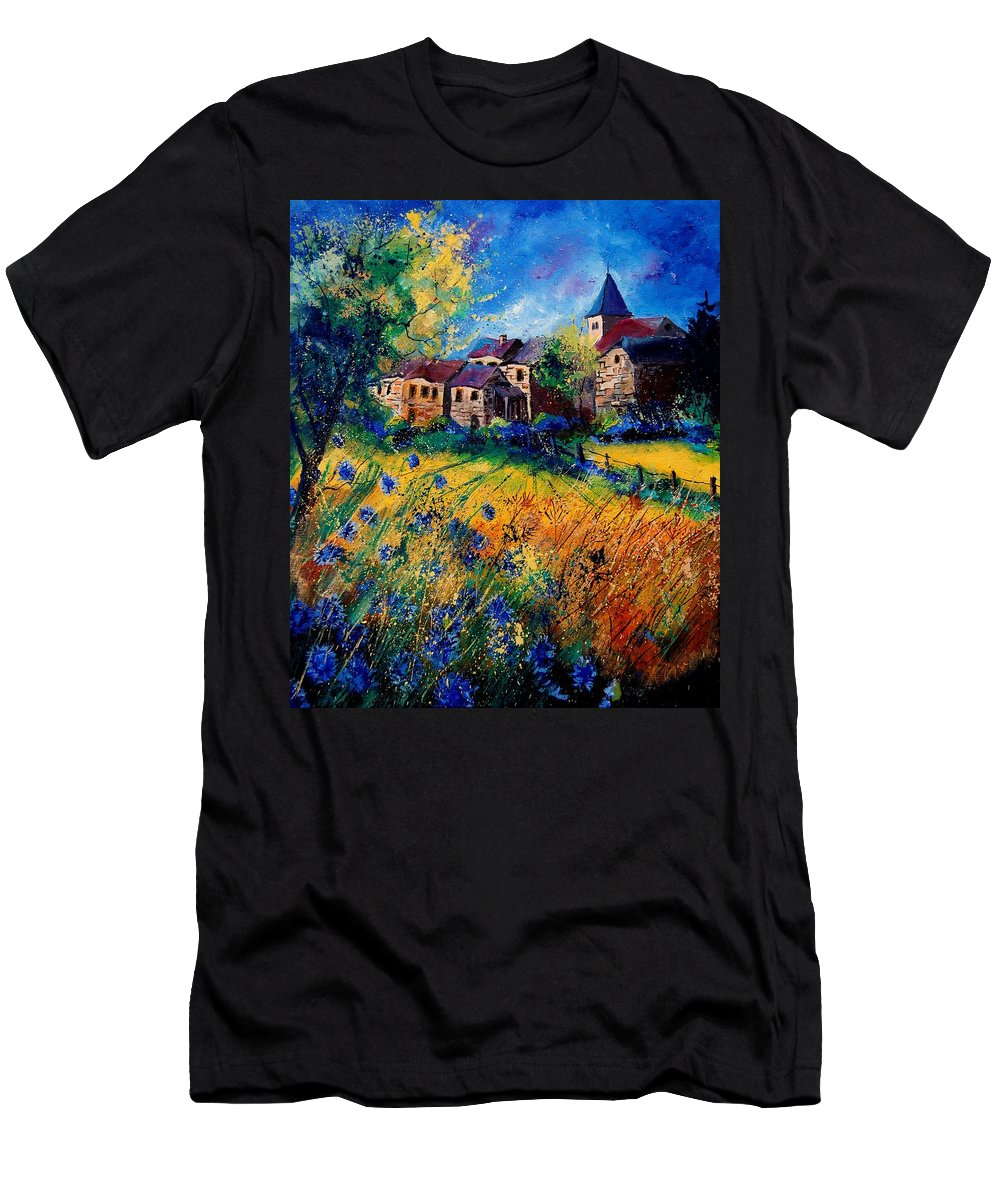 Tree Men's T-Shirt (Athletic Fit) featuring the painting Awagne 67 by Pol Ledent