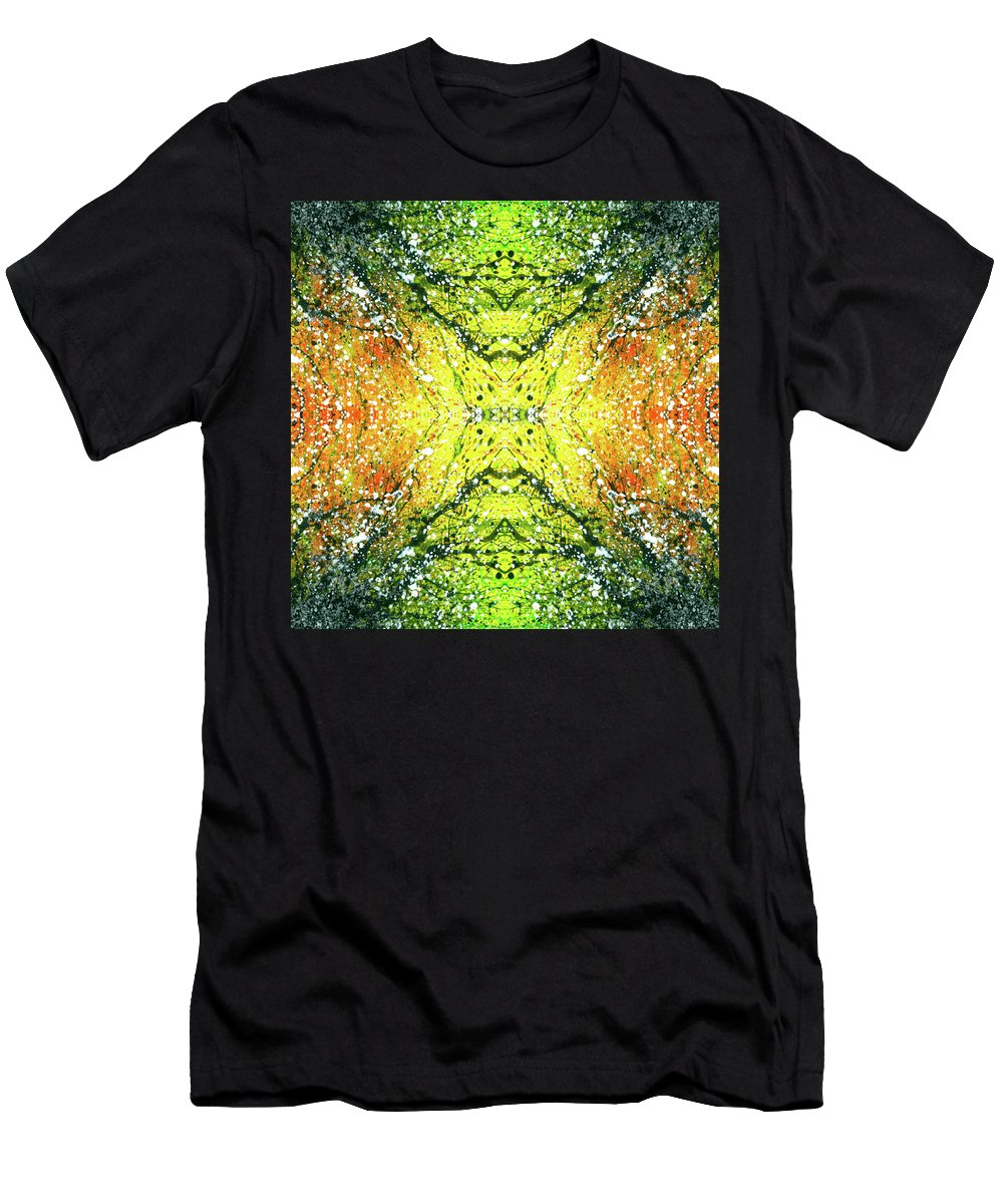Abstract Men's T-Shirt (Athletic Fit) featuring the mixed media Awakened For Higher Perspective #1423 by Rainbow Artist Orlando L