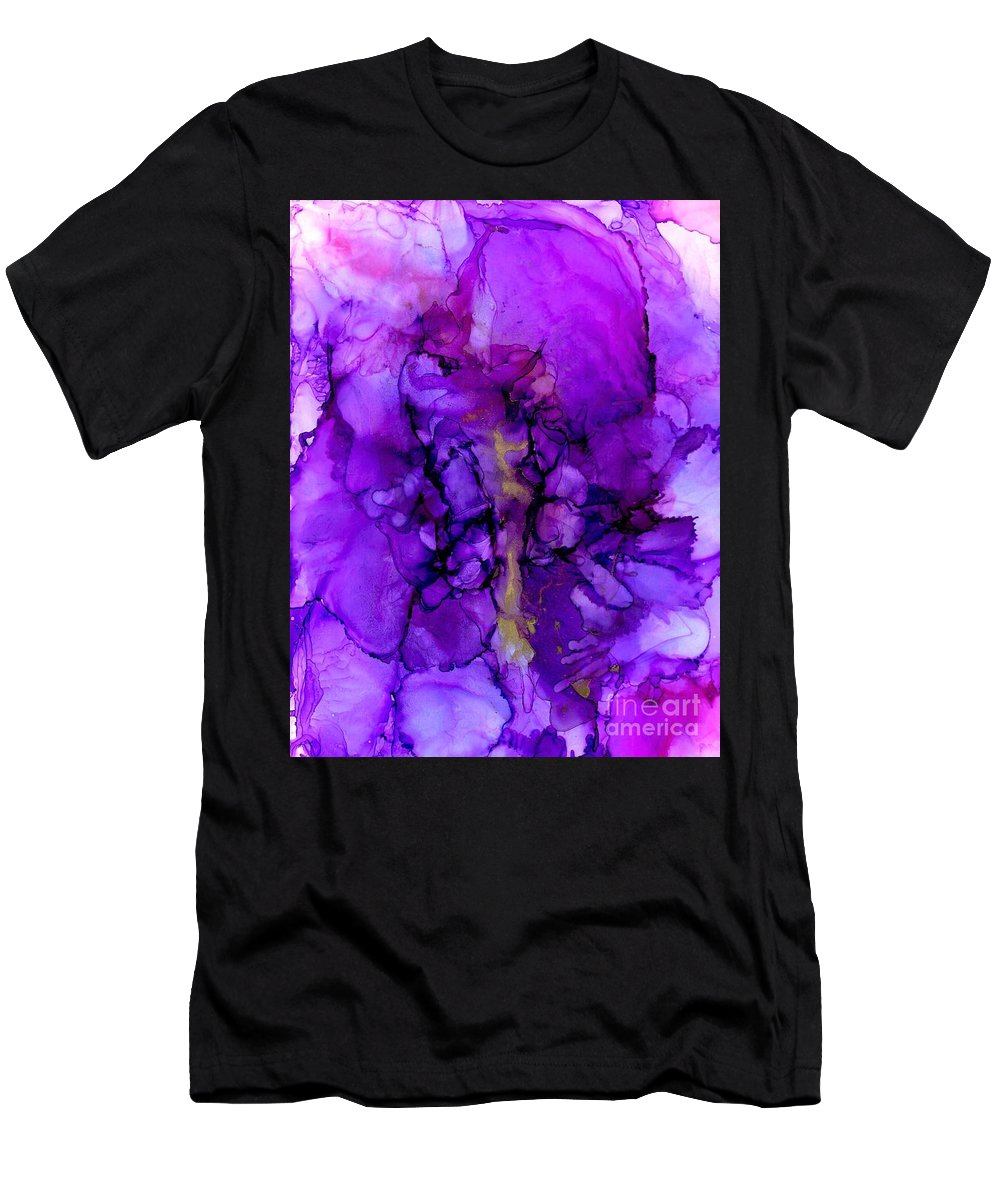 Alcohol Ink Men's T-Shirt (Athletic Fit) featuring the painting Awakening by Ilese Levitt