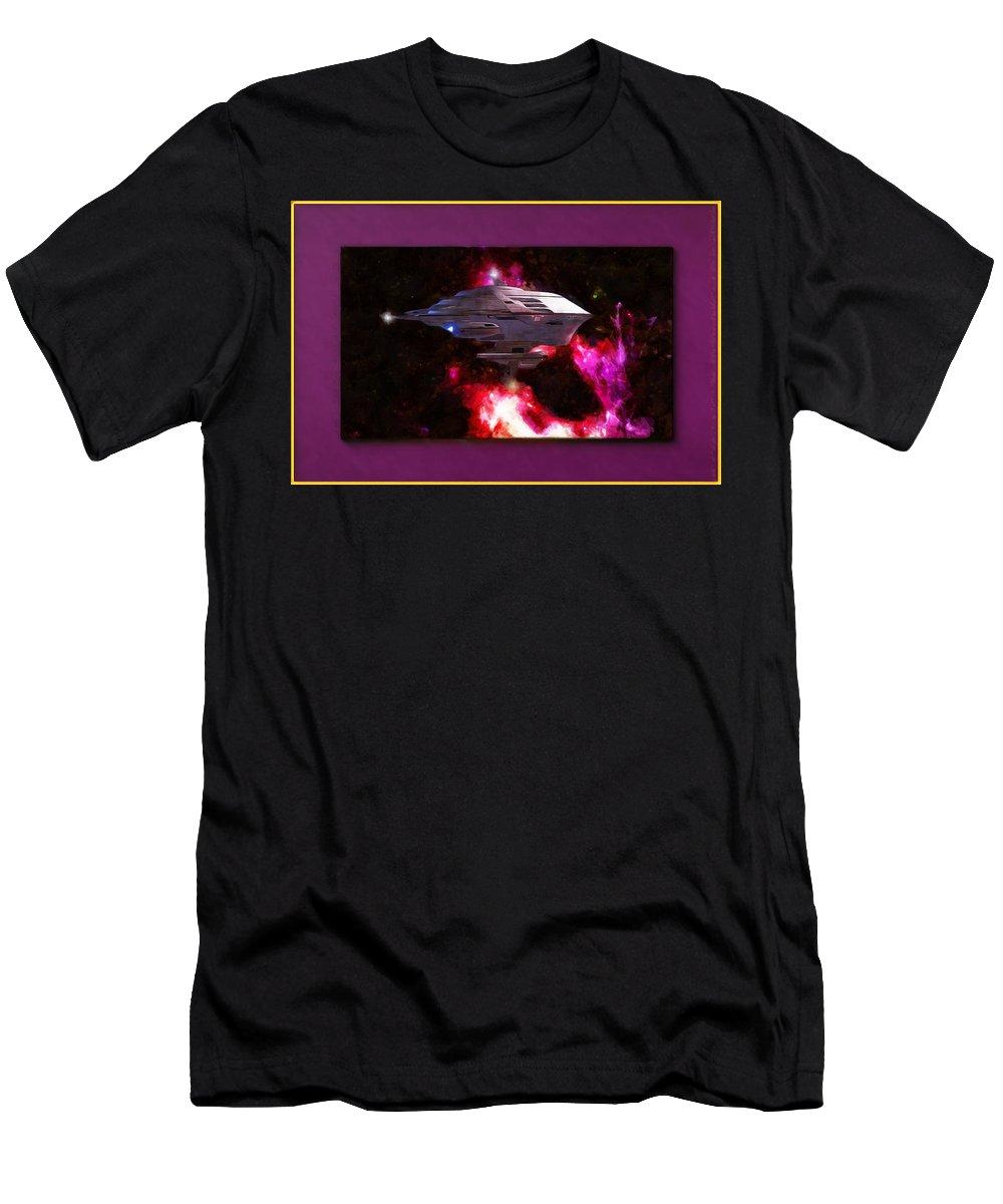Digital Art Work Men's T-Shirt (Athletic Fit) featuring the digital art Axiom Delight by Mario Carini