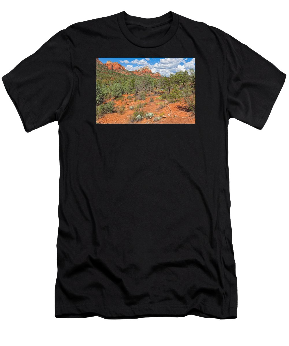 Arizona Men's T-Shirt (Athletic Fit) featuring the photograph Az-sedona-soldier Pass Trail. by Arlene Waller