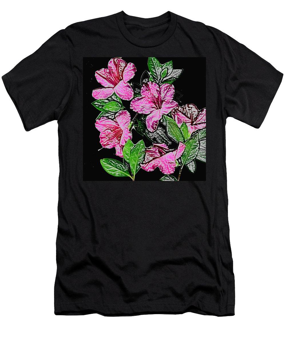 Azalea Men's T-Shirt (Athletic Fit) featuring the photograph Azalea by Wayne Potrafka