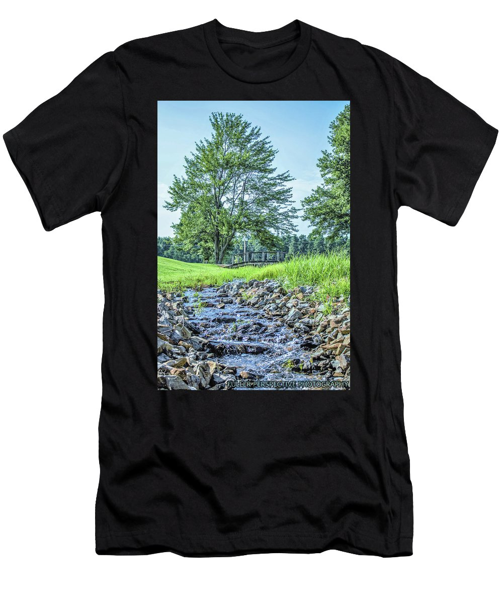 Water Men's T-Shirt (Athletic Fit) featuring the photograph Babbling Creek by Chad Fuller