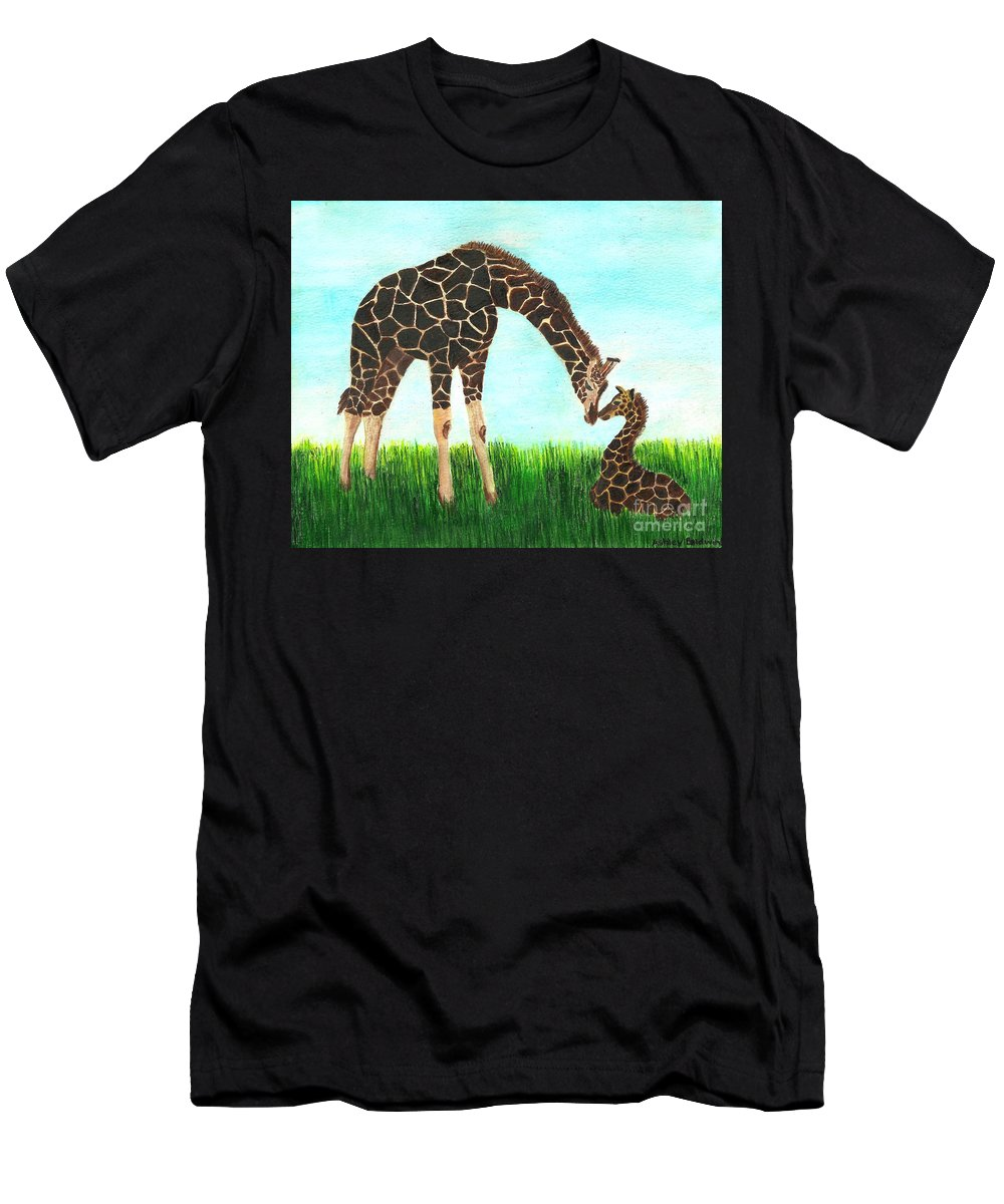 Baby And Mother Giraffe With Hidden Mickey T Shirt For Sale By