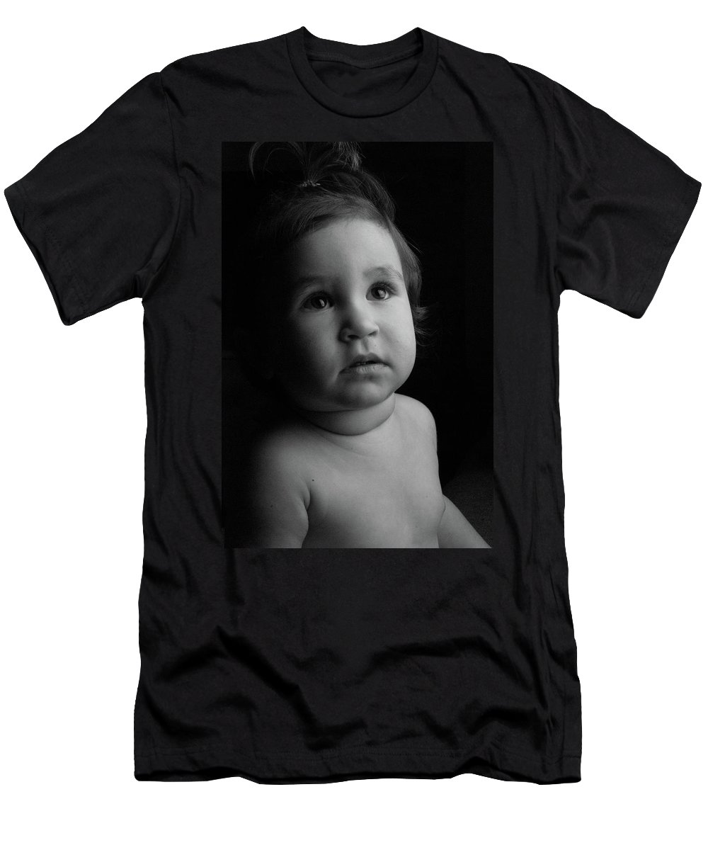 Men's T-Shirt (Athletic Fit) featuring the photograph Baby Portrait by Victor Aga