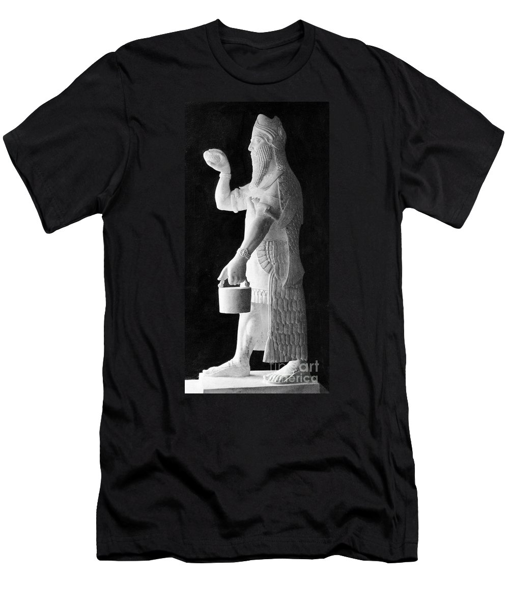 Historic Men's T-Shirt (Athletic Fit) featuring the photograph Babylonian God Of Healing, 5000 Bc by Wellcome Images