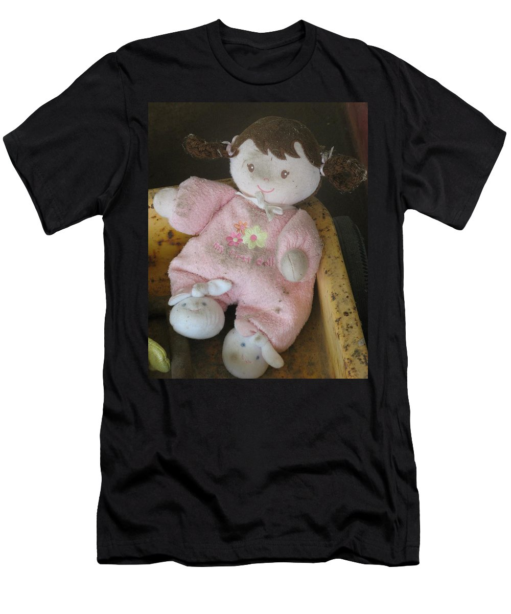 Doll Men's T-Shirt (Athletic Fit) featuring the photograph Baby's First Doll by Richard Bryce and Family