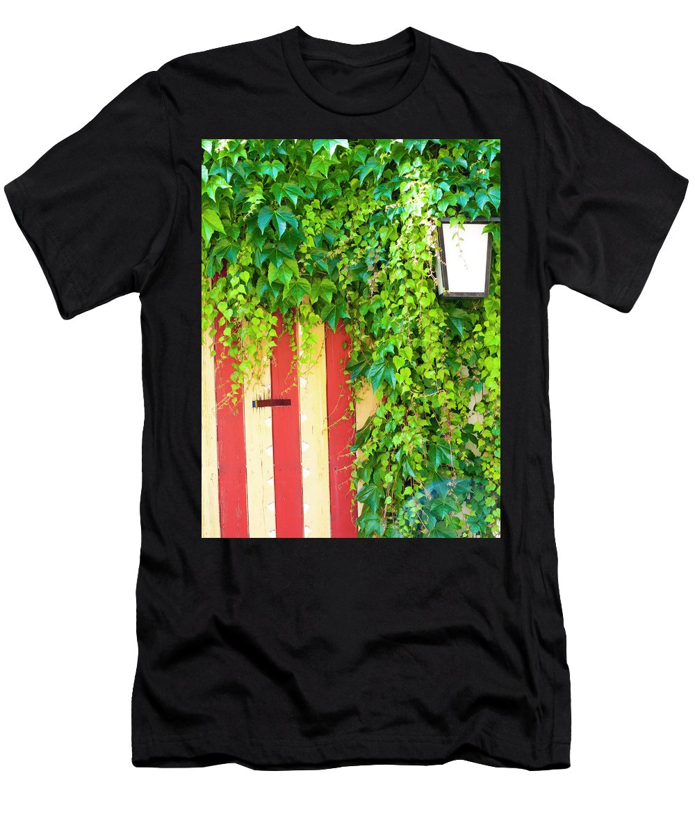 Szentendre Men's T-Shirt (Athletic Fit) featuring the photograph Back Alley Color by Rae Tucker
