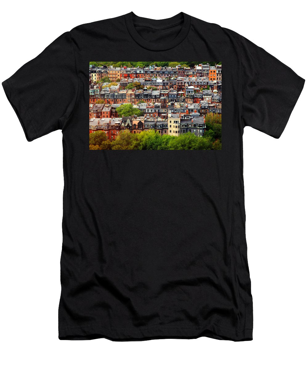 Boston Men's T-Shirt (Athletic Fit) featuring the photograph Back Bay by Rick Berk