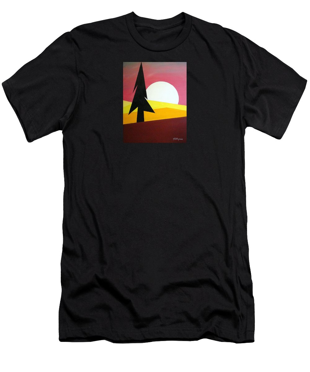 Impressionist Painting Men's T-Shirt (Athletic Fit) featuring the painting Bad Moon Rising by J R Seymour