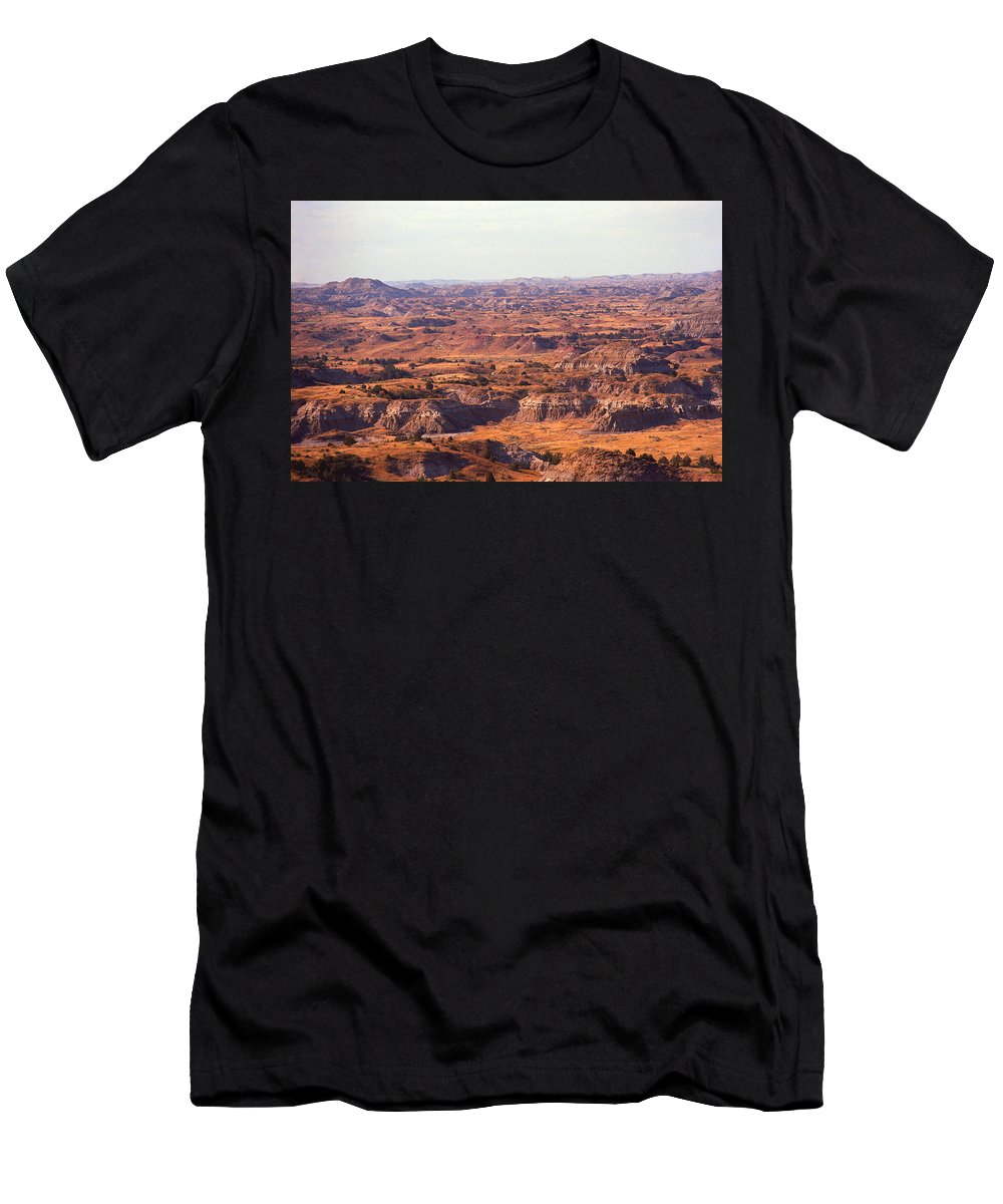 Art Men's T-Shirt (Athletic Fit) featuring the photograph Badlands #3 by Frank Romeo