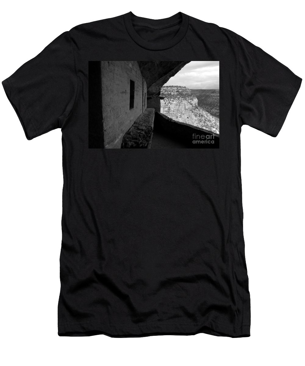 Balcony House Men's T-Shirt (Athletic Fit) featuring the photograph Balcony House by David Lee Thompson