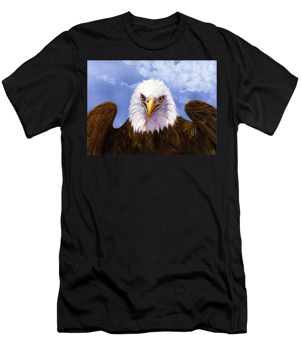 Eagle Men's T-Shirt (Athletic Fit) featuring the painting Bald Eagle by Catherine G McElroy
