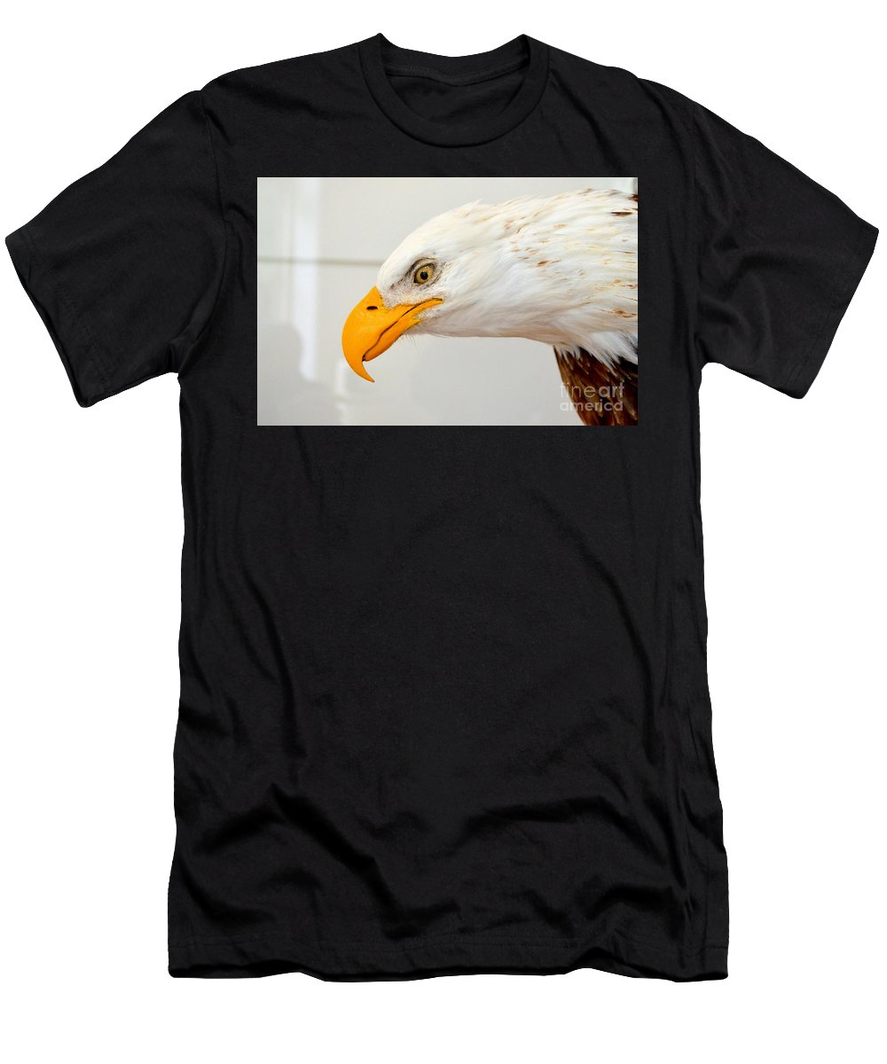 Bald Eagle Men's T-Shirt (Athletic Fit) featuring the photograph Bald Eagle by Suranga Basnagala