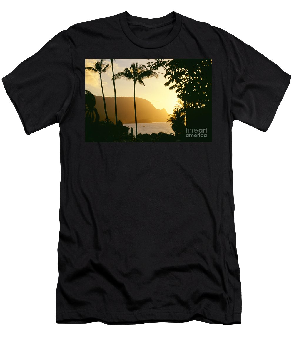 Bali Hai Men's T-Shirt (Athletic Fit) featuring the photograph Bali Hai, Yellow by David Cornwell/First Light Pictures, Inc - Printscapes