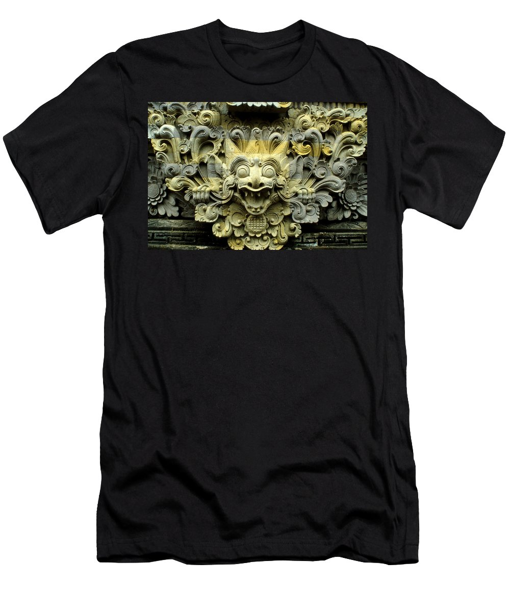 Bali Men's T-Shirt (Athletic Fit) featuring the photograph Bali Temple Art by Jerry McElroy
