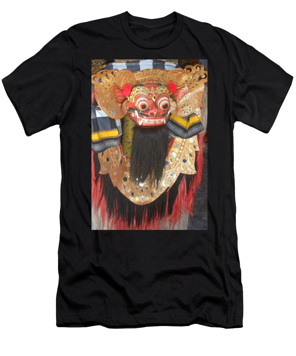 Bali Men's T-Shirt (Athletic Fit) featuring the photograph Balinese Barong by Mark Sellers