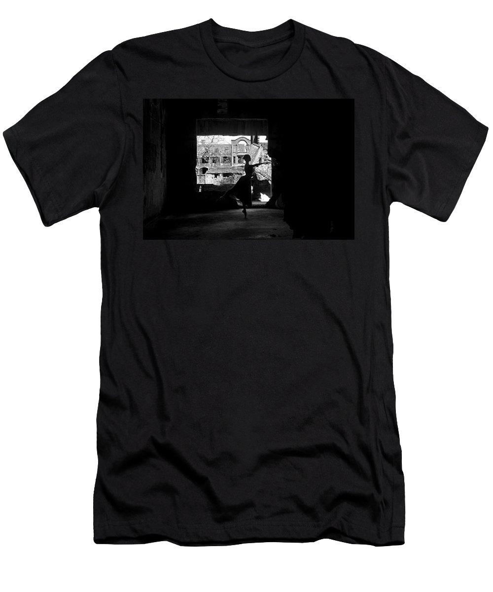 Ballet Dancer Men's T-Shirt (Athletic Fit) featuring the photograph Ballet Dancer10 by George Cabig