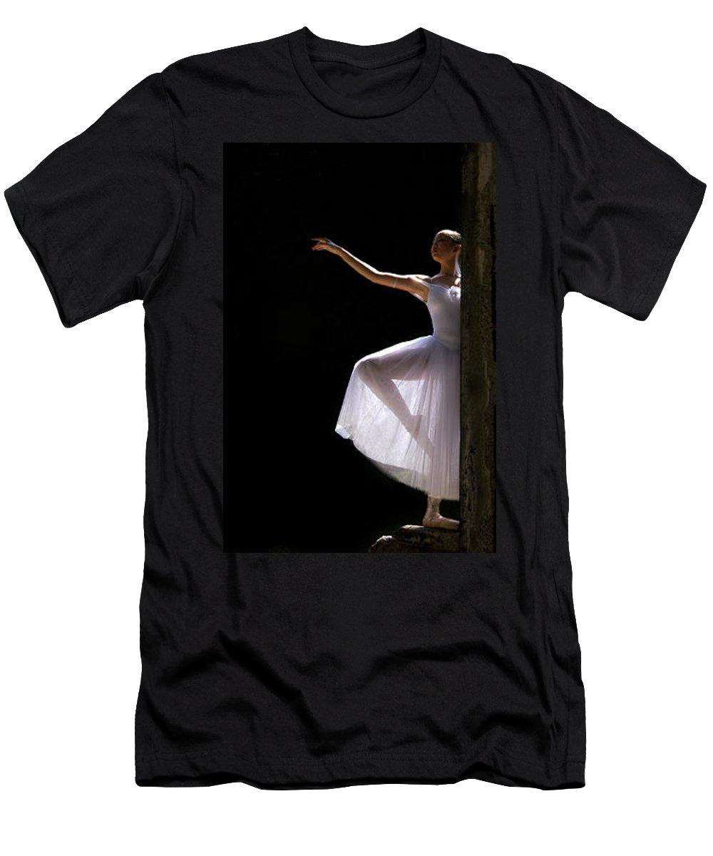 Ballet Dancer Men's T-Shirt (Athletic Fit) featuring the photograph Ballet Dancer6 by George Cabig