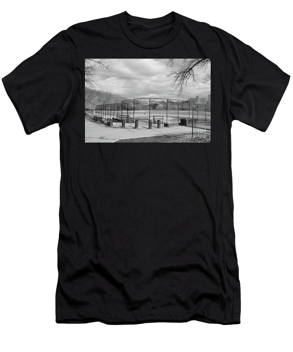 Inwood Men's T-Shirt (Athletic Fit) featuring the photograph Ballfields by Cole Thompson
