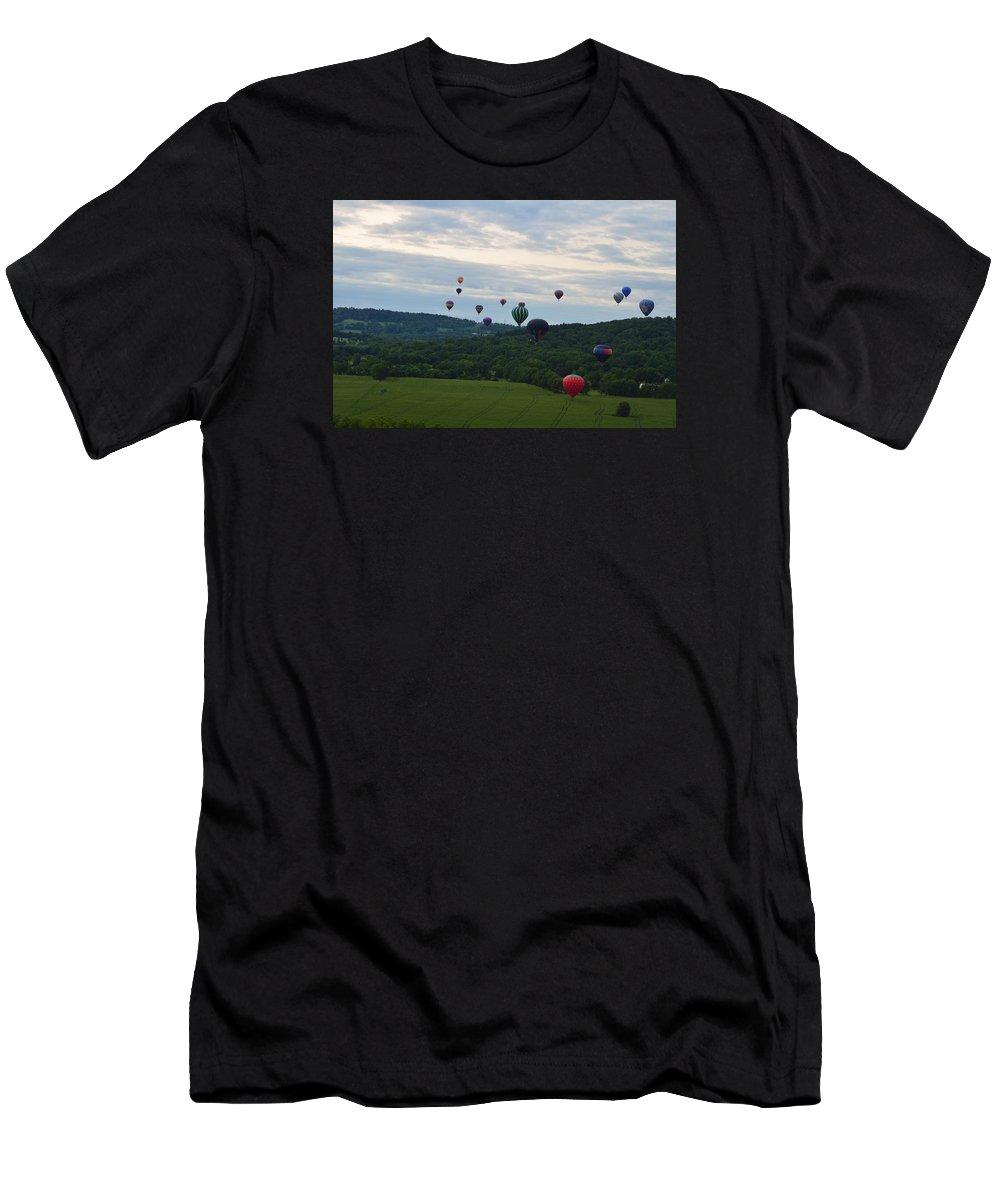 Ballon Men's T-Shirt (Athletic Fit) featuring the photograph Ballon Festival by Ian Winter