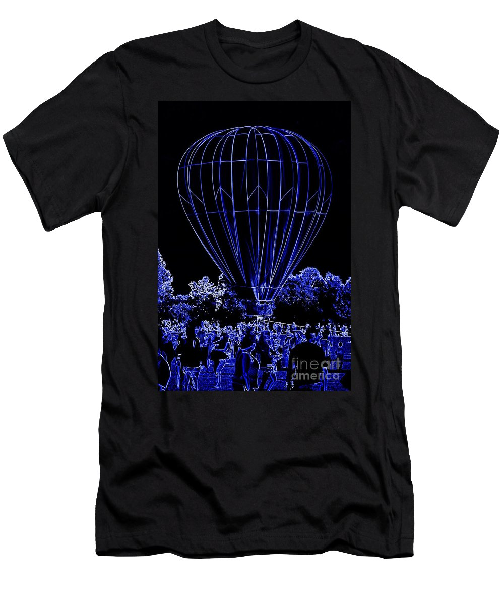 Balloon Men's T-Shirt (Athletic Fit) featuring the photograph Balloon Festival by Anita Goel