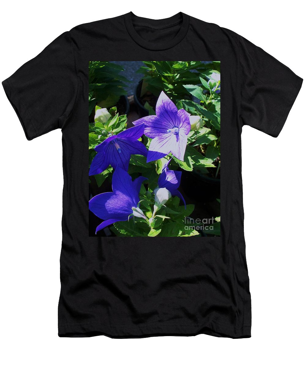 Landscapes Men's T-Shirt (Athletic Fit) featuring the photograph Baloon Flower by Eric Schiabor