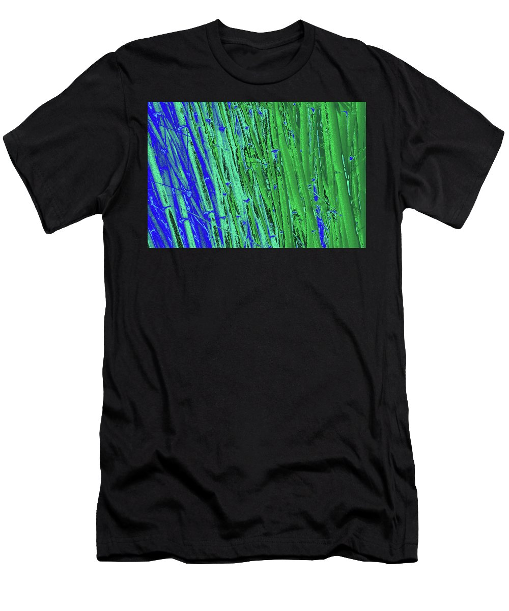 Trees Men's T-Shirt (Athletic Fit) featuring the photograph Bamboo Johns Yard 21 by Gary Bartoloni
