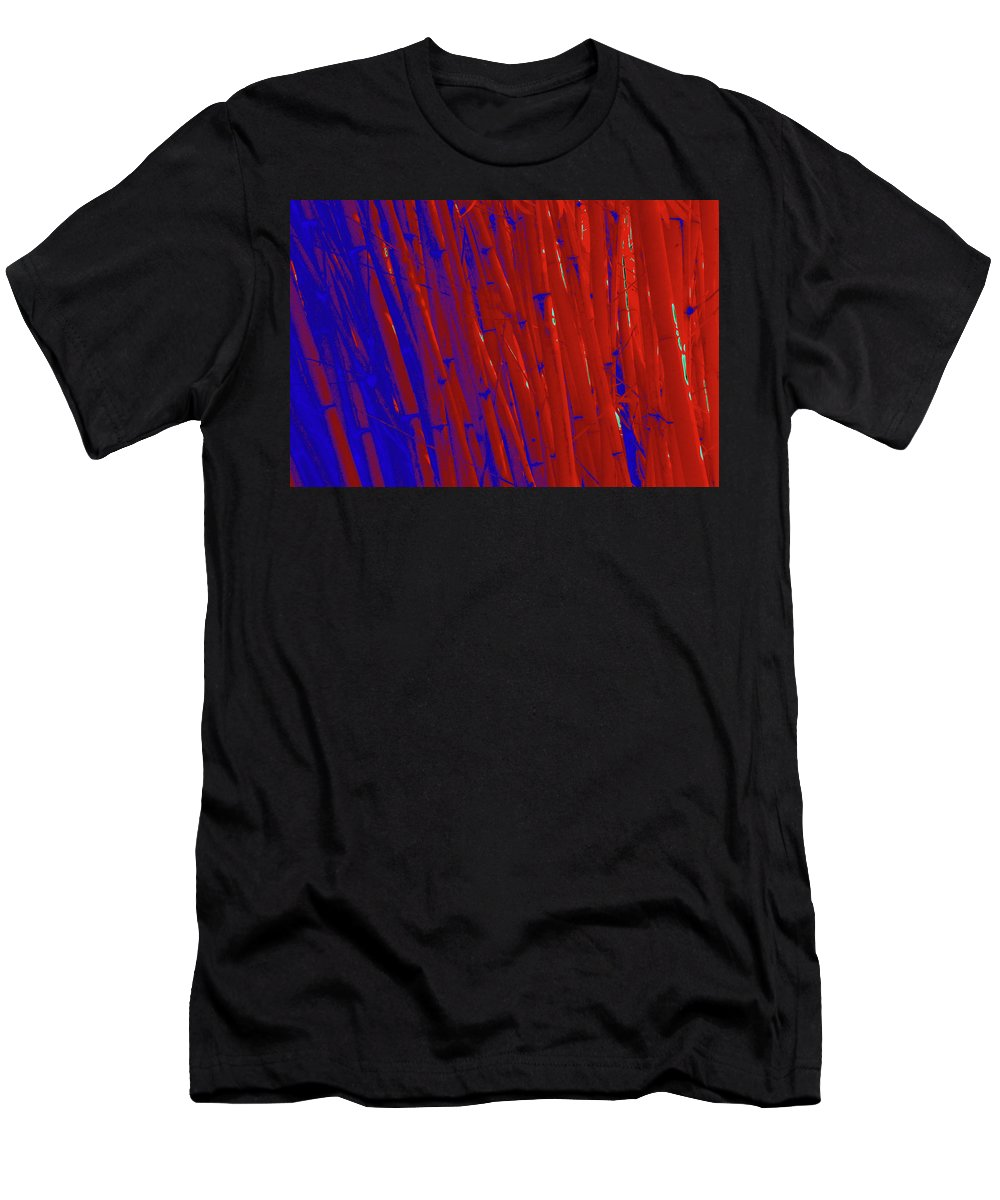 Trees Men's T-Shirt (Athletic Fit) featuring the photograph Bamboo Johns Yard 3 by Gary Bartoloni