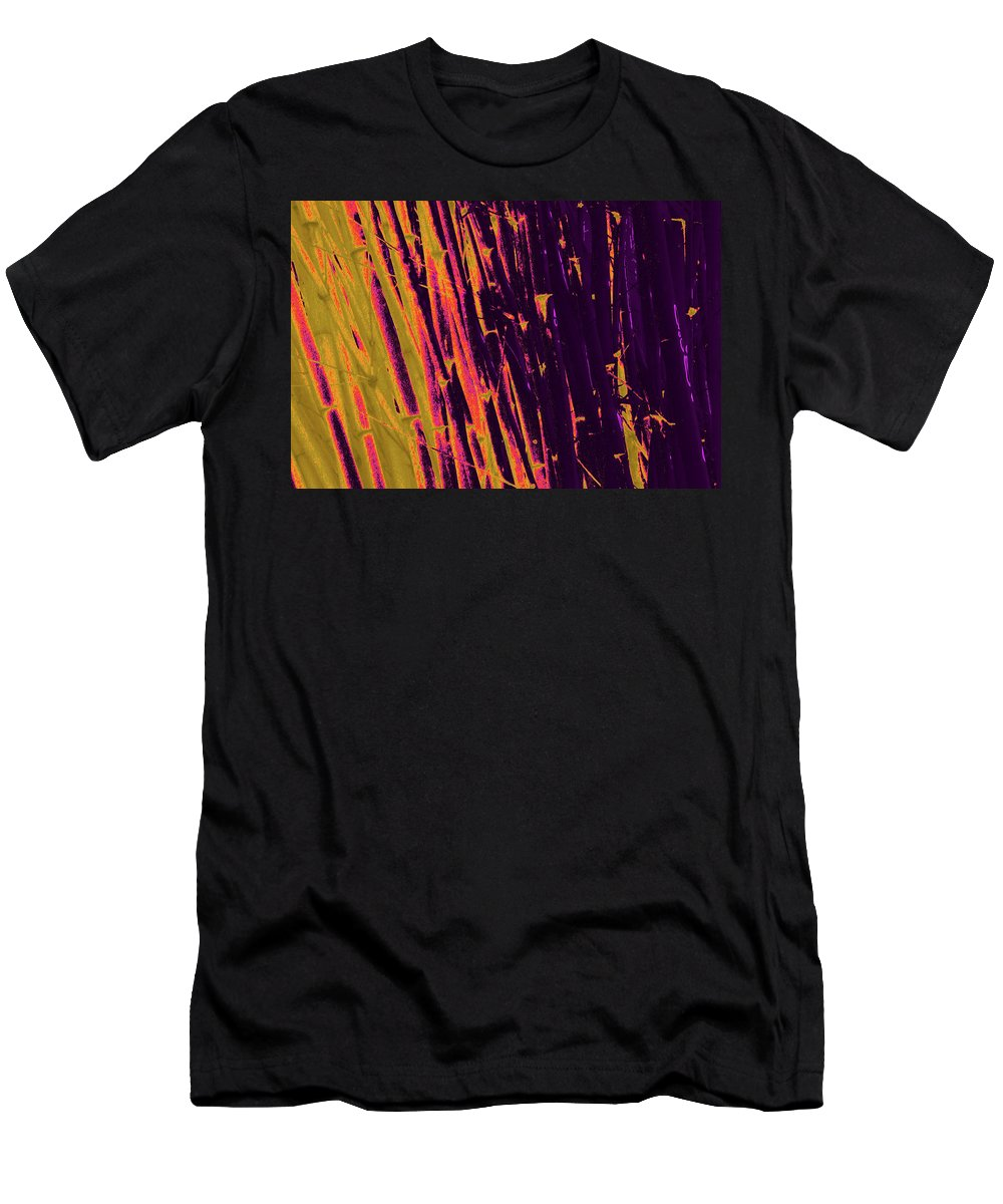 Trees Men's T-Shirt (Athletic Fit) featuring the photograph Bamboo Johns Yard 8 by Gary Bartoloni