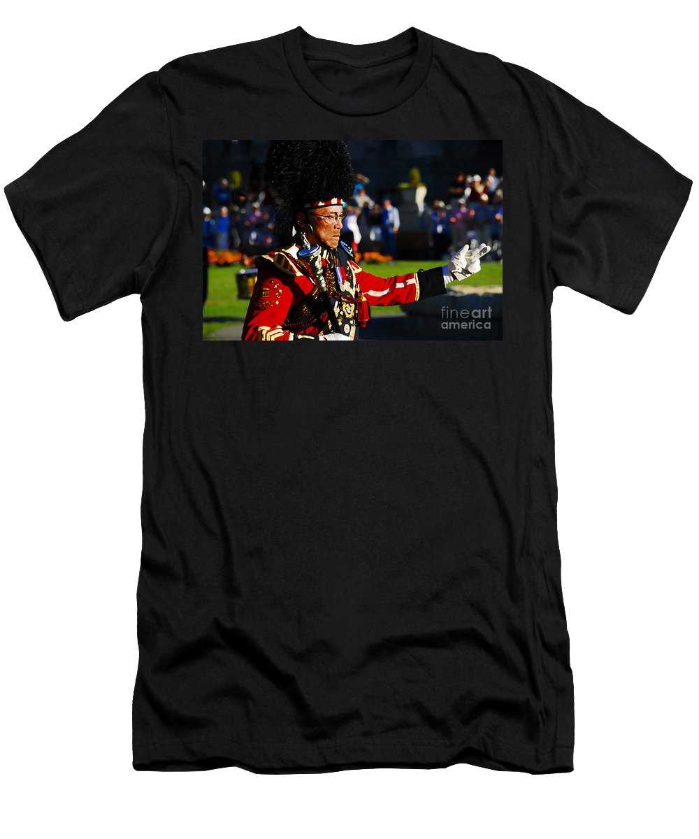 Band Leader Men's T-Shirt (Athletic Fit) featuring the photograph Band Leader by David Lee Thompson