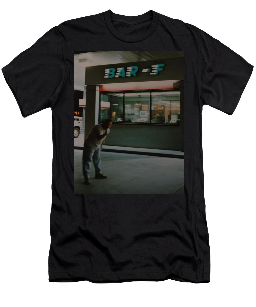 Funny Men's T-Shirt (Athletic Fit) featuring the photograph Bar F by Rob Hans