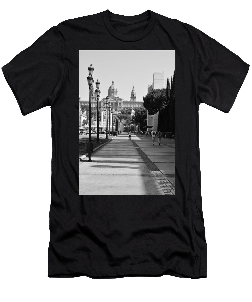 The Town Men's T-Shirt (Athletic Fit) featuring the photograph Barcelona by Dorota Stolarz