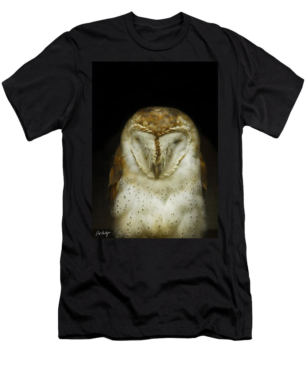 Barn Owl Men's T-Shirt (Athletic Fit) featuring the photograph Barn Owl by Phill Doherty